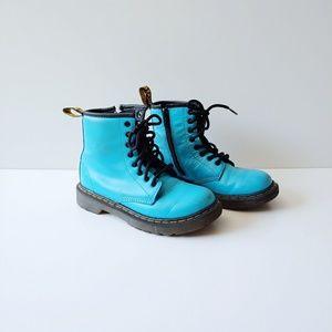 Dr. Marten Delaney Teal Blue Girl Boots Size 12